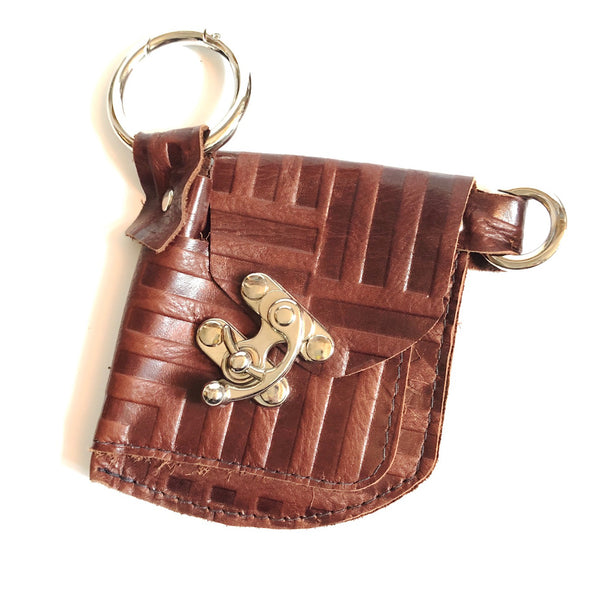 ***SALE*** Brown Stripe Leather On-the-go Wallet