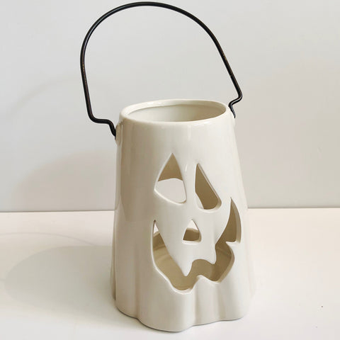 Halloween Ceramic Ghost Lantern