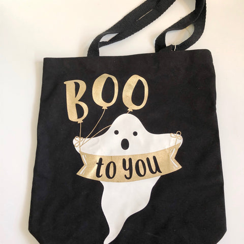 Canvas Halloween Ghost Treat Bag