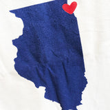 Evanston/Chicago Love Tea Towel