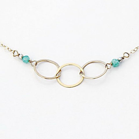 Amazonite Circle Necklace