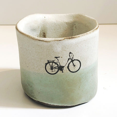 2 Tone Ceramic Bicycle Cup