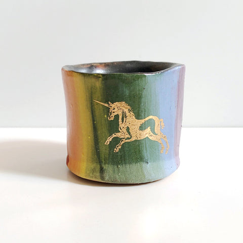 Small One-Of-A-Kind Unicorn Cup A