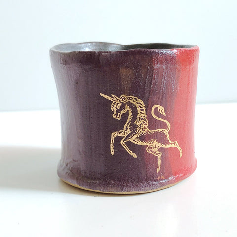 Small One-Of-A-Kind Unicorn Cup B