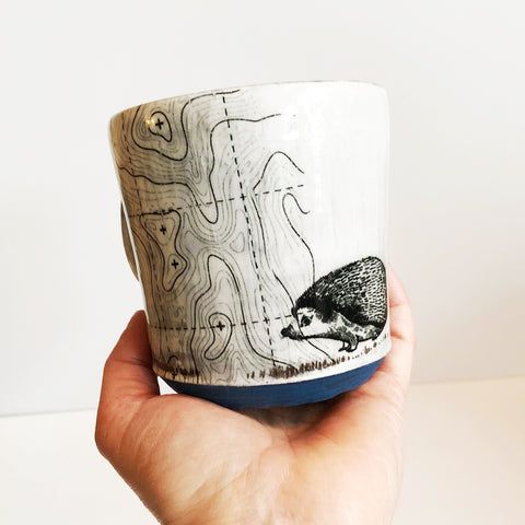 Handmade Hedgehog Coffee Mug