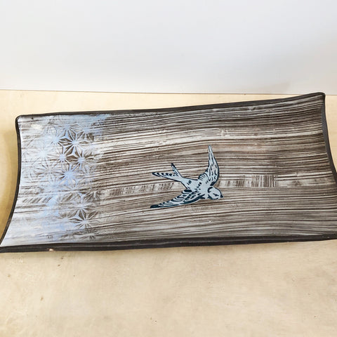 Large Rectangular Bird Platter