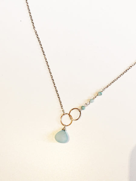 Chalcedony Drop Necklace