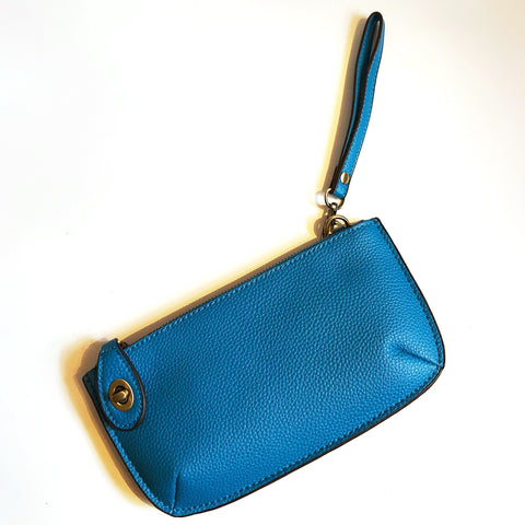 Ocean Blue Crossbody Clutch On-The-Go Purse