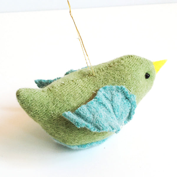 ***SALE*** Green Bird Sweater Ornament