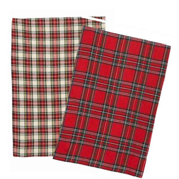 Plaid Dish Towel Set