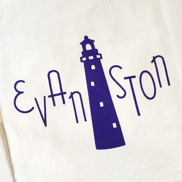 Evanston Lighthouse Tea Towel