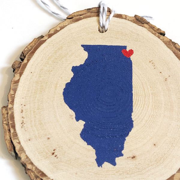 Evanston/Chicago Love Ornament