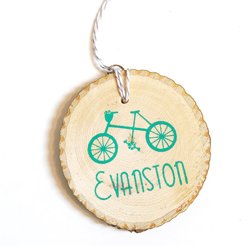 Evanston Bicycle Ornament