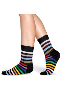 Rainbow Stripe Sock: Size S/M