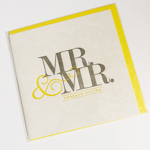 Mr. & Mr. Wedding Card