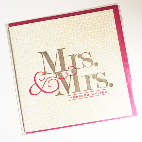 Mrs. & Mrs. Wedding Card