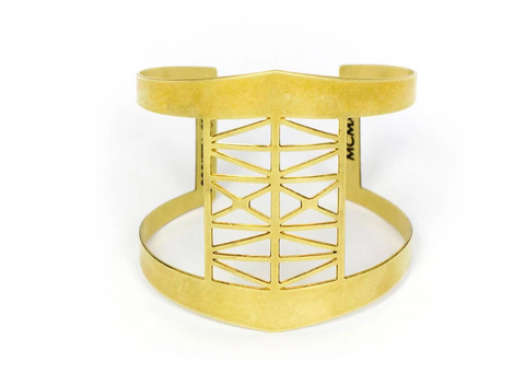Steel Bridge Brass Cuff