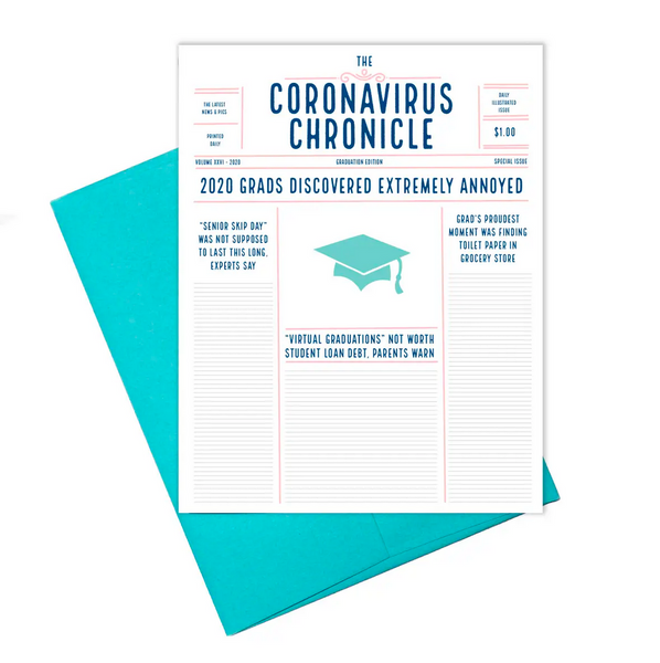 Coronavirus: Chronicle Graduation Card
