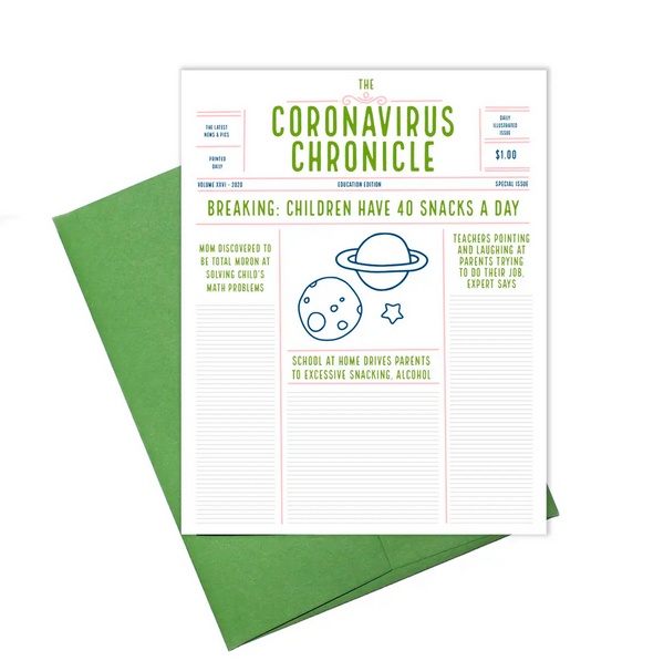 Coronavirus: Kid Chronicle Card