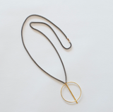 Brass Circle Bar Necklace