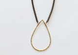 Large Brass Teardrop Necklace