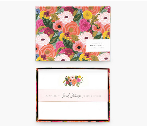 Floral Social Stationery Set of 12