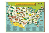 National Parks Map 1,000 Piece Puzzle