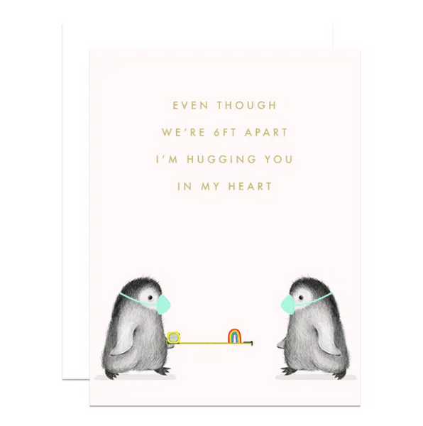 Hugging you 6 Feet Apart Card