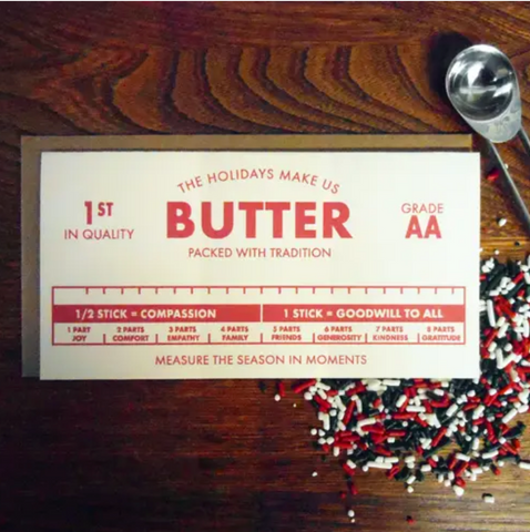 The Holidays Make Us Butter Card