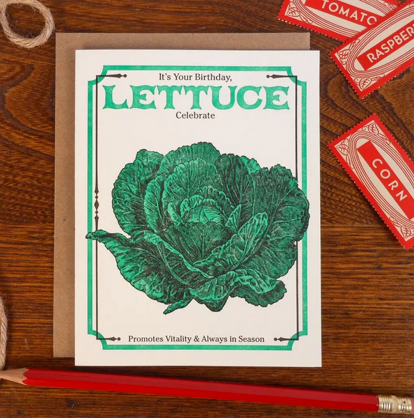 Lettuce Celebrate Your Birthday Card