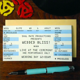 Wedded Bliss Rock Ticket Card