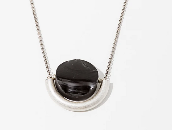 Onyx Sun & Moon Necklace