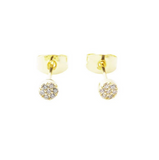 Crystal Mini Circle Gold Studs