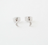Crystal Moon Silver Studs