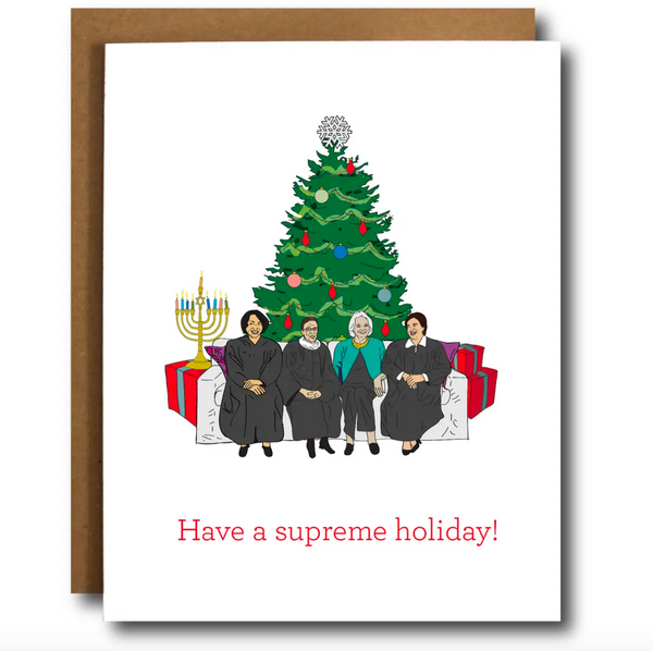 Happy Holidays from Supreme Ladies Card