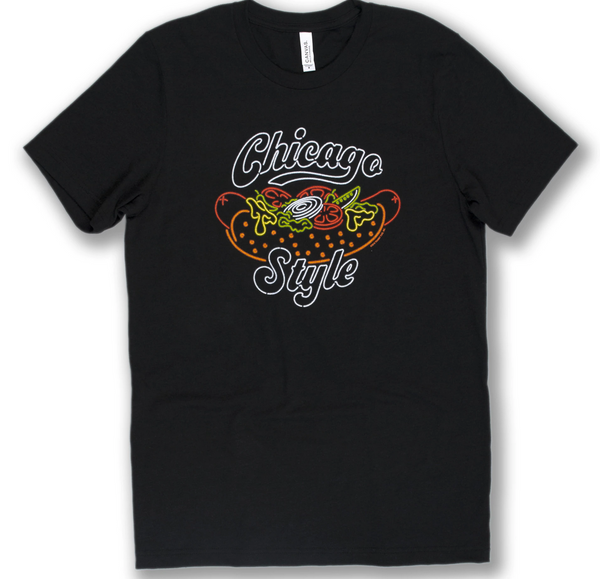 SMALL - Chicago Style Hot Dog T-Shirt