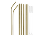 Reusable Goldl Straw Set