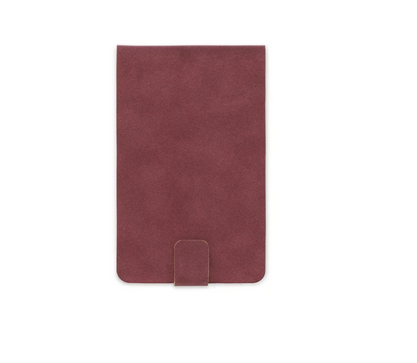 VEGAN SUEDE NOTEPAD | BURGUNDY