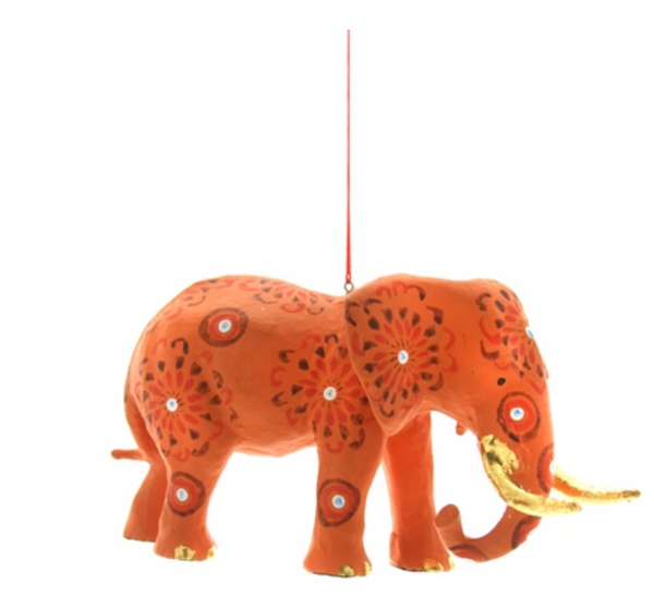 Painted Elephant Ornament