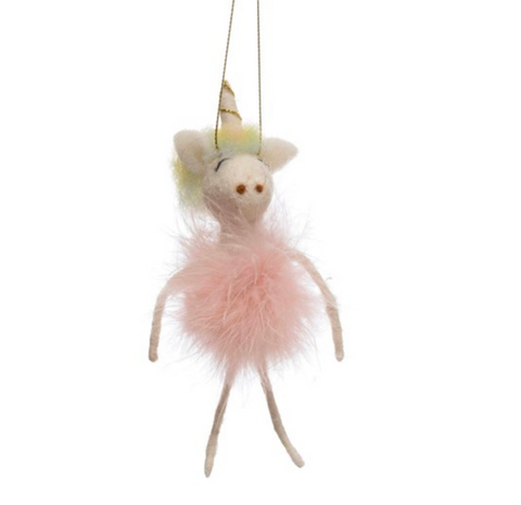 Unicorn Tutu Felt Ornament