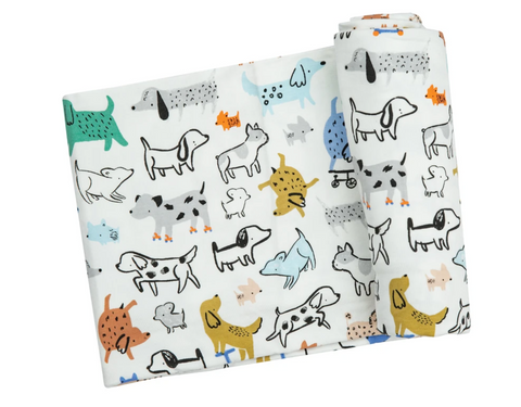 Pups Swaddle Baby Blanket