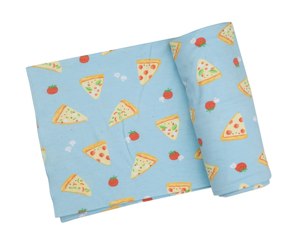Pizza Cutie Swaddle Baby Blanket