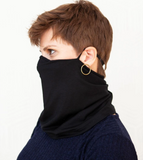 "Mask ""Marv"" in Solid Black Jersey Knit"