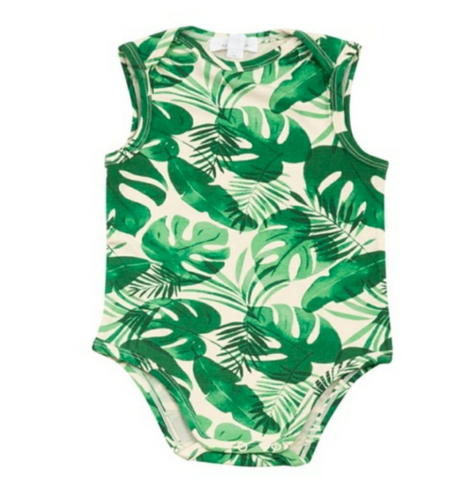 Baby Monstera Leaf Onesie