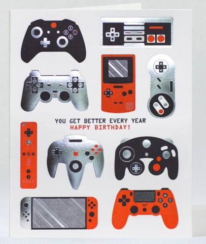 Gamer Birthday Card