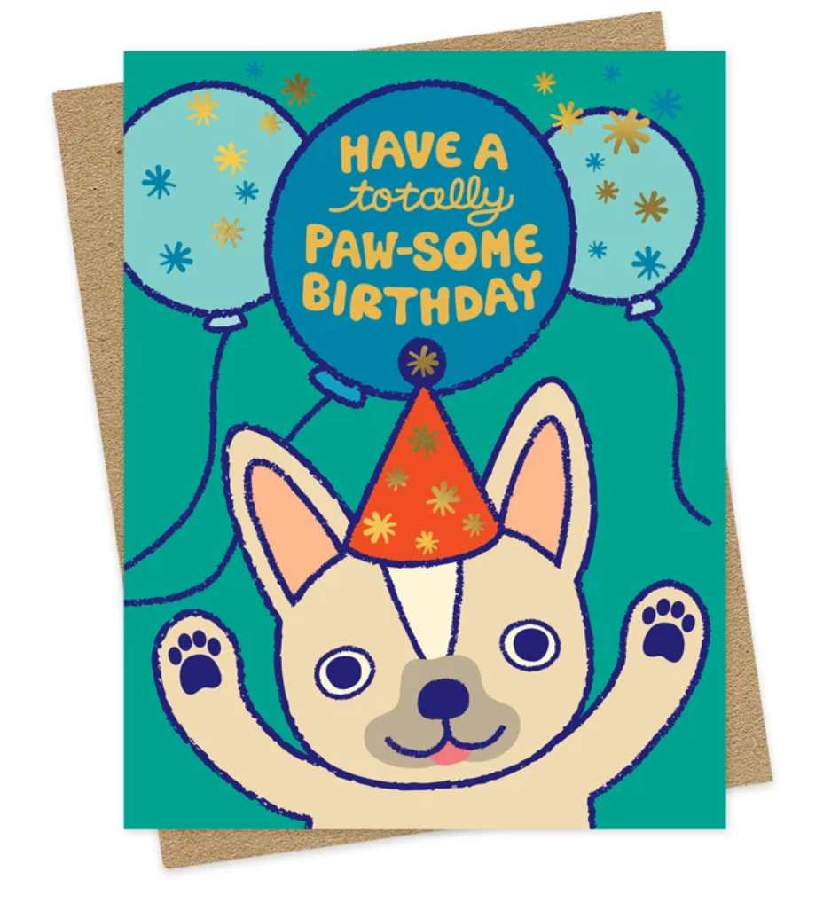 Paw-some Birthday Card