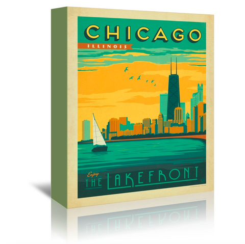 8 x 10 Chicago Lakefront Canvas