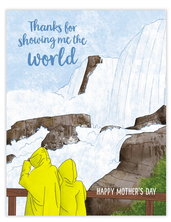 Thanks For Showing Me The World Mother's Day Card