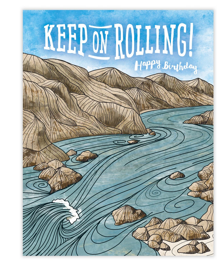 Keep On Rolling Birthday Card