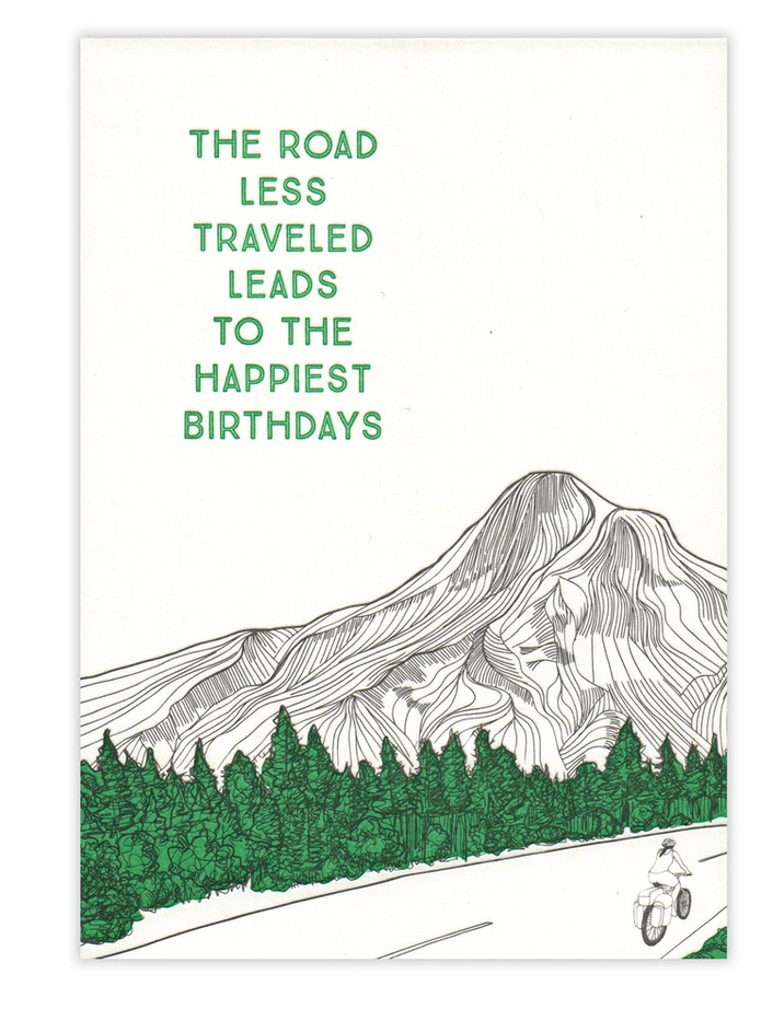 The Road Less Traveled Birthday Card